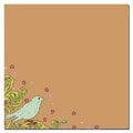Scenic Route Paper - Laurel Collection - 12x12 Cardstock - Kraft Bird