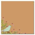 Scenic Route Paper - Laurel Collection - 12x12 Cardstock - Kraft Bird