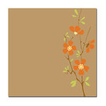 Scenic Route Paper - Ashville Collection - 12x12 Paper - Kraft Wild Flower