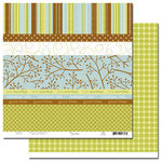 Scenic Route Paper - Ashville Collection - 12x12 Paper - Scrap Strip 3