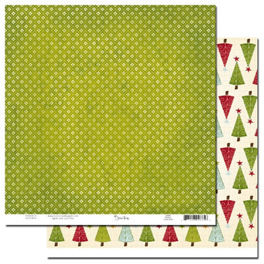 Scenic Route Paper - Roxbury Collection - Christmas - 12x12 Double Sided Paper - Roxbury Forest Street, CLEARANCE