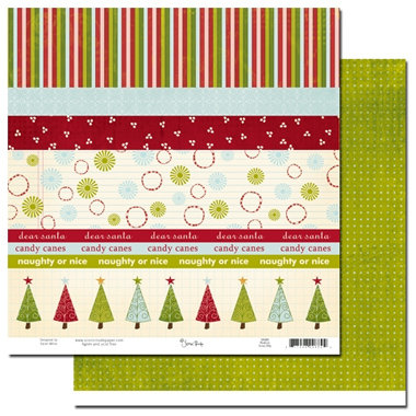Scenic Route Paper - Roxbury Collection - Christmas - 12x12 Double Sided Paper - Roxbury Scrap Strip, CLEARANCE