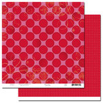 Scenic Route Paper - Loveland Collection - Valentine's Day - 12x12 Double Sided Paper - Loveland Ruby Avenue, CLEARANCE
