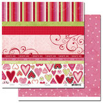Scenic Route Paper - Loveland Collection - Valentine's Day - 12x12 Double Sided Paper - Loveland Scrap Strip, CLEARANCE