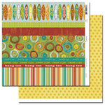 Scenic Route Paper - Grafton Collection - 12x12 Double Sided Paper - Scrap Strip 3, CLEARANCE