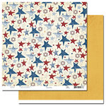 Scenic Route Paper - Liberty Collection - 12x12 Double Sided Paper - Franklin Street, CLEARANCE