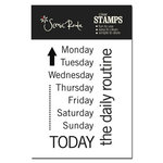 Scenic Route Paper - Sonoma Collection - Clear Acrylic Stamps - Days of the Week, CLEARANCE