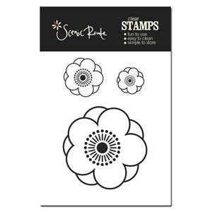 Scenic Route Paper - Clear Acrylic Stamps - Charlotte Flowers, CLEARANCE