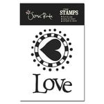 Scenic Route Paper - Clear Acrylic Stamps - Love, CLEARANCE