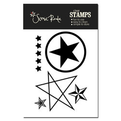 Scenic Route Paper - Liberty Collection - Clear Acrylic Stamps - Stars, CLEARANCE