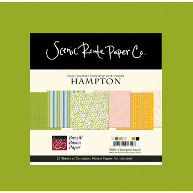 Scenic Route Paper - Bazzill Cardstock Collection Packs - Hampton
