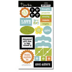 Scenic Route Paper - Garden Grove Collection - Chipboard - Time Flies , CLEARANCE