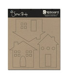 Scenic Route Paper - Plain Chipboard Shapes - Houses