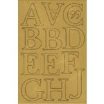 Scenic Route Paper - Chipboard Alphabet Sets - Gold - Capitol Hill - Uppercase, CLEARANCE