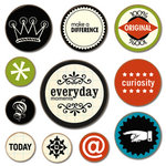 Scenic Route Paper - Chipboard Circles - Everyday Moments, CLEARANCE