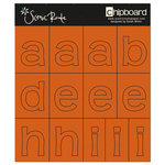 Scenic Route Paper - Chipboard Stencils - Redmond Dark Orange