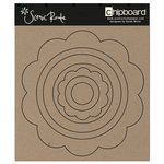 Scenic Route Paper - Chipboard Shapes - Circle