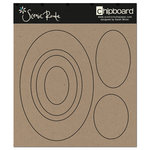 Scenic Route Paper - Chipboard Shapes - Oval , CLEARANCE