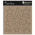 Scenic Route Paper - Chipboard Shapes - Star