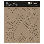 Scenic Route Paper - Chipboard Shapes - Heart, CLEARANCE