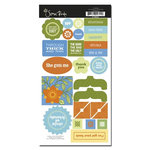 Scenic Route Paper - Providence Collection - Chipboard - Girlfriends, CLEARANCE