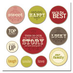 Scenic Route Paper - Sonoma Collection - Chipboard Circles - Our Story, CLEARANCE