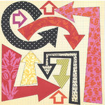 Scenic Route Paper - Laurel Collection - 12x12 Cardstock - Diecut Arrows, CLEARANCE