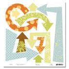Scenic Route Paper - Ashville Collection - 12x12 Cardstock - Die Cut Arrows