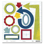 Scenic Route Paper - Appleton Collection - 12x12 Die Cuts - Shapes - School, CLEARANCE