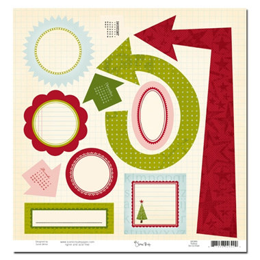 Scenic Route Paper - Roxbury Collection - Christmas - Die Cut Shapes - Roxbury, CLEARANCE