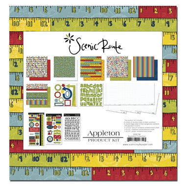 Scenic Route Paper - Appleton Collection - Appleton Kit - School, CLEARANCE