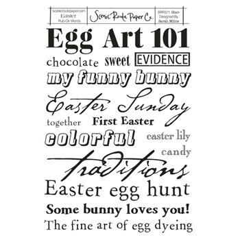 Scenic Route Paper - Rub-Ons - Easter Words
