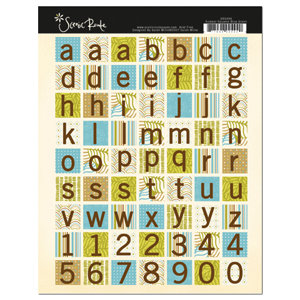 Scenic Route Paper - Sumner Collection - Cardstock Stickers - Blue Green Square, CLEARANCE