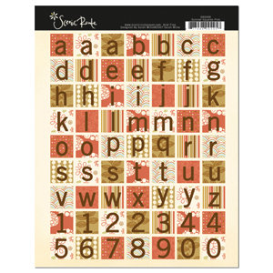 Scenic Route Paper - Sumner Collection - Cardstock Stickers - Pink Square, CLEARANCE
