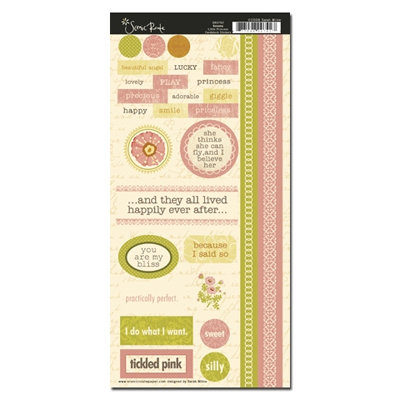 Scenic Route Paper - Sonoma Collection - Cardstock Stickers - Little Princess, BRAND NEW