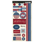 Scenic Route Paper - Liberty Collection - Cardstock Stickers - Liberty, CLEARANCE