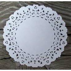 SRM Press Inc. - 4 Inch White Lace Paper Doilies