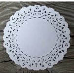 SRM Press Inc. - 4 Inch White Lace Paper Doilies