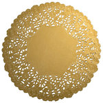 SRM Press Inc. - 4 Inch Gold Lace Doilies
