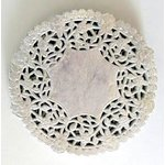 SRM Press Inc. - 4 Inch Silver Lace Doilies