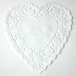 SRM Press Inc. - 6 Inch White Heart Doilies