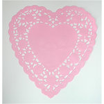 SRM Press Inc. - 6 Inch Pink Heart Doilies