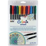 Marvy Uchida - Color In - Le Plume II - Markers - Primary - 12 Pack