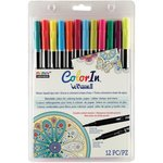Marvy Uchida - Color In - Le Plume II - Markers - Bright - 12 Pack
