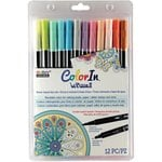 Marvy Uchida - Color In - Le Plume II - Markers - Pastel - 12 Pack