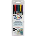 Marvy Uchida - Color In - Le Plume II - Markers - Primary - 6 Pack