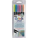 Marvy Uchida - Color In - Le Plume II - Markers - Pastel - 6 Pack