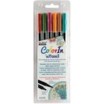 Marvy Uchida - Color In - Le Plume II - Markers - Natural - 6 Pack
