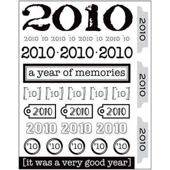 SRM Press Inc. - Stickers - Year of Memories - 2010