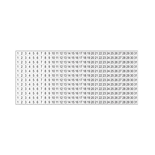 SRM Press Inc. - Stickers - Small Numbers